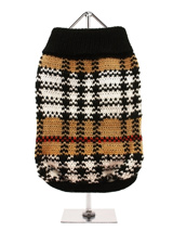 Autumn Sweater - We have taken the inspiration for this sweater from traditional tartan designs but given it a contemporary tweak, it is a warm and stylish with classic Autumnal colours of black, white and brown. It will look good all year round.