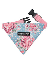 Vintage Rose Floral Bandana - Our Vintage Rose Floral Bandana will brighten up even the dullest of days. It is a contemporary style and the floral pattern is right on trend. Just attach your lead to the D ring and this stylish Bandana can also be used as a collar. It is lightweight and incredibly strong. You can be sure that thi...