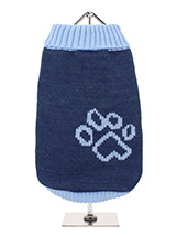 Blue Paw Sweater - Our Blue Paw Sweater is a beautiful shade of blue with contrasting blue turtle neck, blue arms and finished with a blue hem. Definitely one for the boys! Finished with an on trend high neck and elasticated sleeves to ensure a great fit from front to back.On top of all of that it will keep you dog sn...