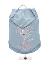 GlamourGlitz UrbanPup Dog Hoodie - Exclusive GlamourGlitz 100% Cotton Hoodie. This cute, light hearted design for dog lovers is sure to please your best friend and make a statement about who is the love of your life. Crafted with Pink and Silver Rhinestuds that catch a sparkle in the light. Wear on it's own or match with a GlamourGli...