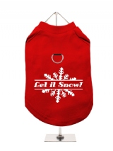''Christmas: Let It Snow'' Harness-Lined Dog T-Shirt