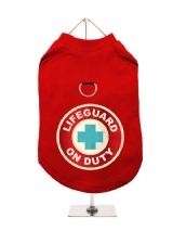 ''Lifeguard On Duty'' Harness-Lined Dog T-Shirt