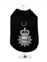 ''British Police'' Harness-Lined Dog T-Shirt
