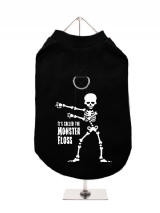 ''Halloween: Monster Floss'' Harness-Lined Dog T-Shirt