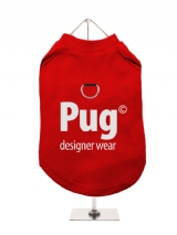 ''Pug Designer Wear'' Harness-Lined Dog T-Shirt