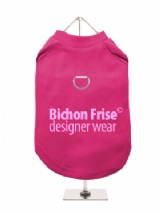 ''Bichon Frise Designer Wear'' Harness-Lined Dog T-Shirt