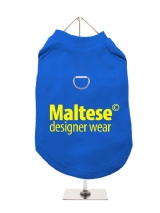 ''Maltese Designer Wear'' Harness-Lined Dog T-Shirt