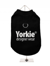 ''Yorkie Designer Wear'' Harness-Lined Dog T-Shirt