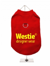 ''Westie Designer Wear'' Harness-Lined Dog T-Shirt